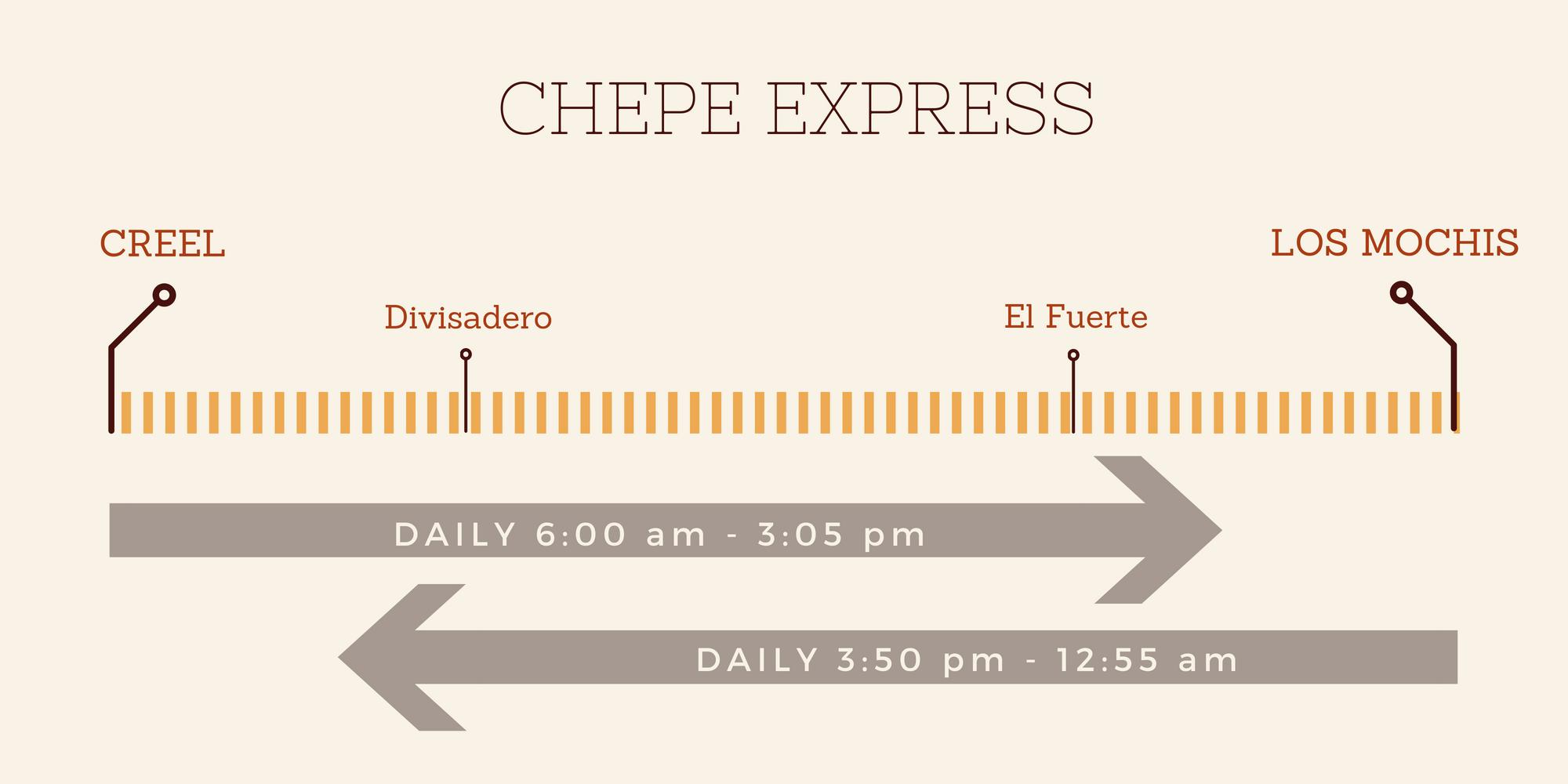 Copper Canyon Train - Chepe Express Schedule